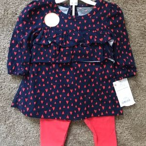 Navy Blue and Red Outfit